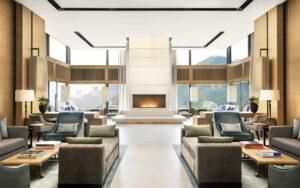 modern hotel lounge in hong kong