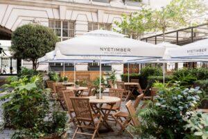 wine bar, garden terrace